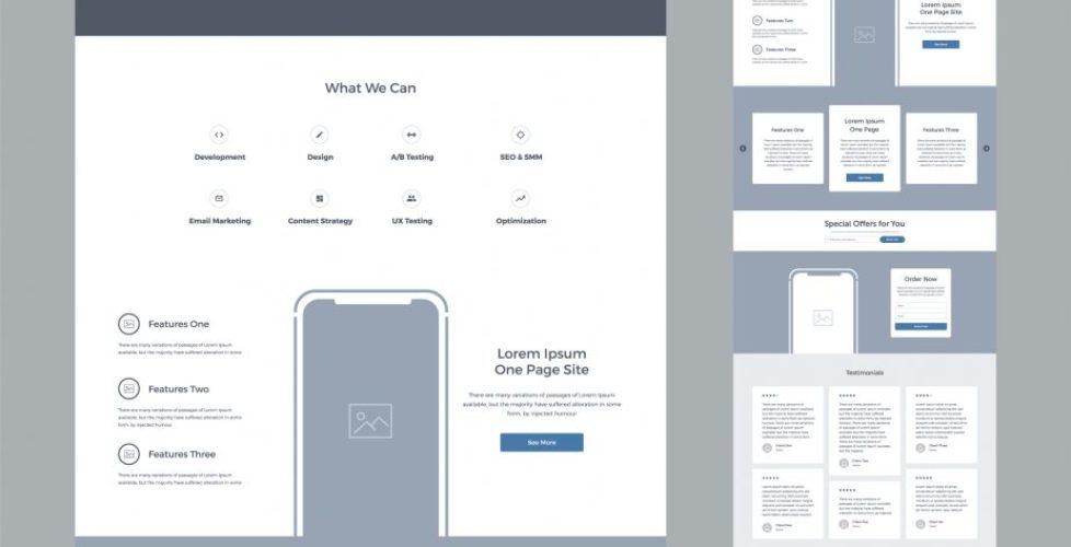 bigstock One Page Website Design Templa 243471559
